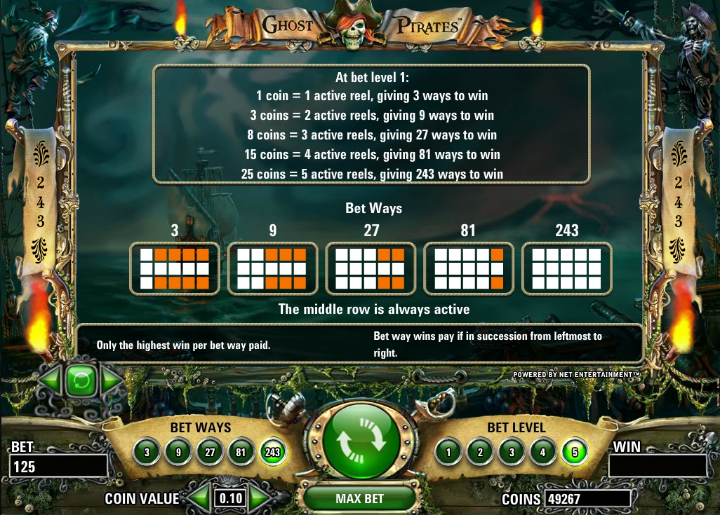 Pirates slot machine