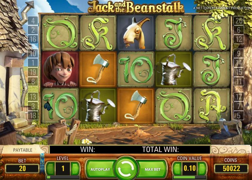 Игровой автомат 3D Jack and the Beanstalk