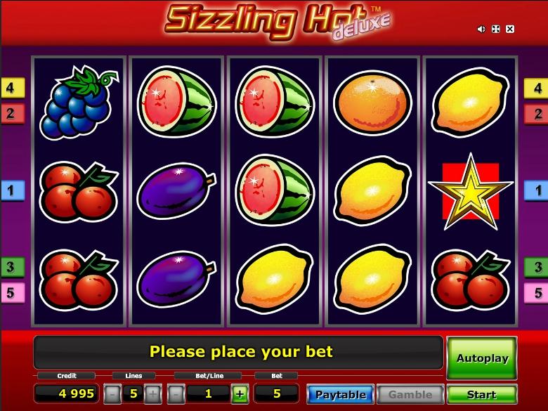 Игровой автомат Sizzling Hot HD